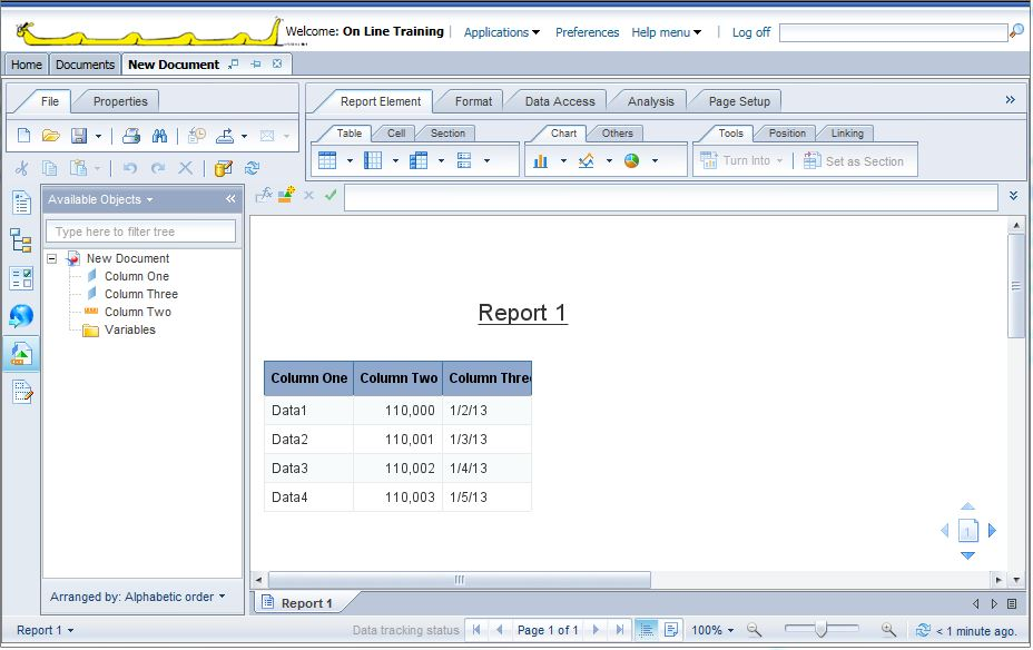 Report writers for excel